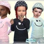 Рубашки для детей Симс 4