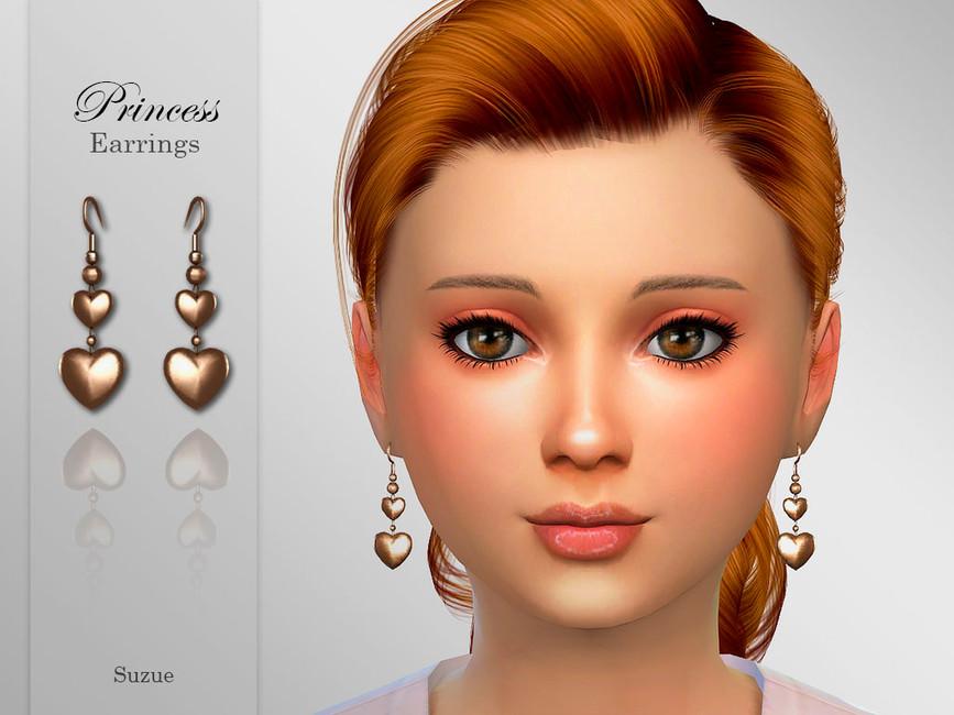 Сережки для детей Princess Child Earrings Симс 4