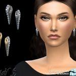 Сережки Needle Crystal Earrings Симс 4