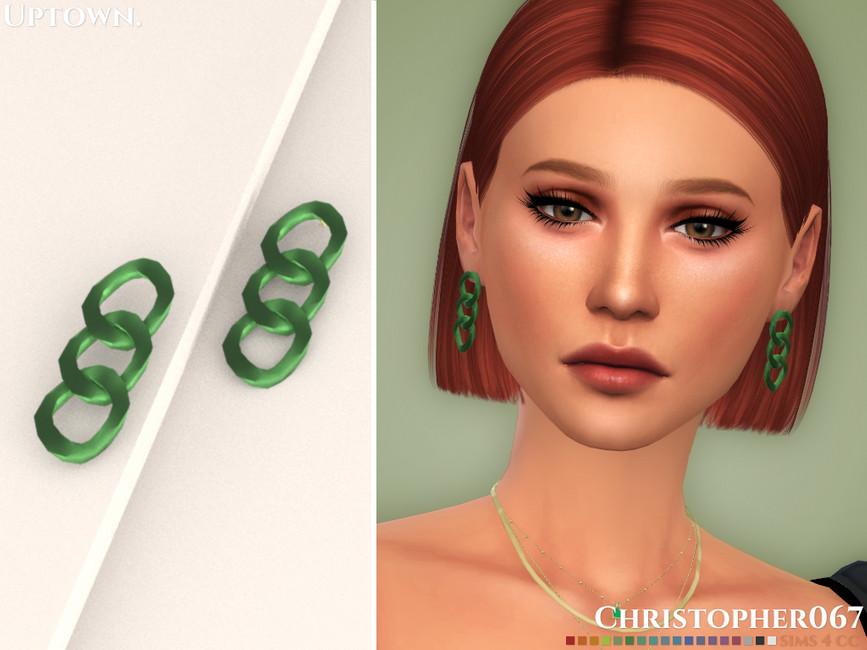 Сережки Uptown Earrings Симс 4