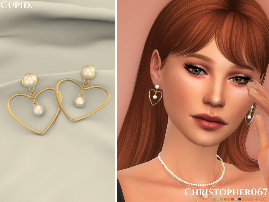 Серьги Cupid Earrings Симс 4