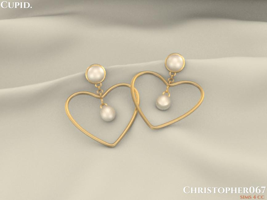Серьги Cupid Earrings Симс 4 (картинка 3)