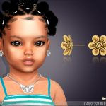 Серьги для малышей Daisy Stud Earrings For Toddlers Симс 4