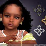 Серьги для малышей Lotta Crystal Earrings For Toddlers Симс 4