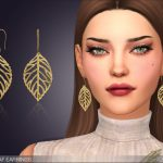 Серьги Drop Leaf Earrings Симс 4