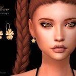 Серьги Flower Earrings Симс 4