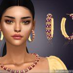 Серьги Helena Hoop Earrings Симс 4