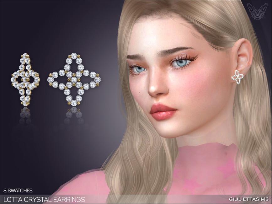 Серьги Lotta Crystal Earrings Симс 4