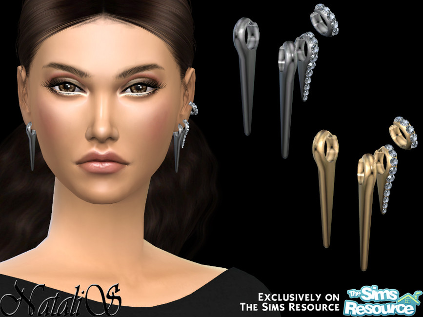 Серьги Needles Combo Earrings Симс 4
