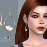 Серьги Pernilla Earrings Симс 4