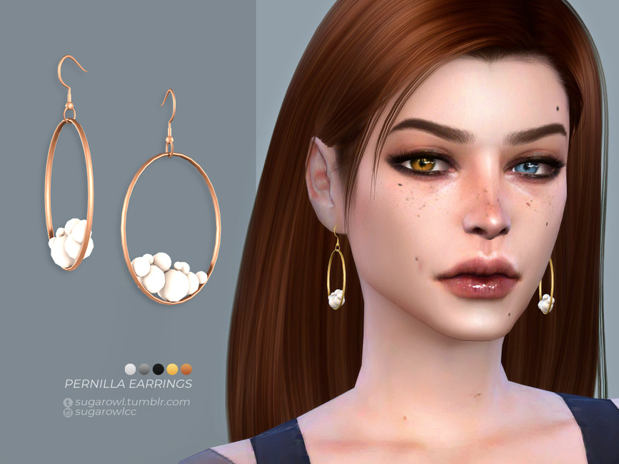 Серьги Pernilla Earrings Симс 4