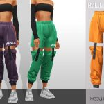 Штаны Missy Cropped Pants Симс 4