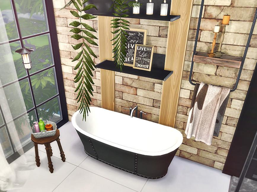 Скачать ванная комната Симс 4 (картинка 3)