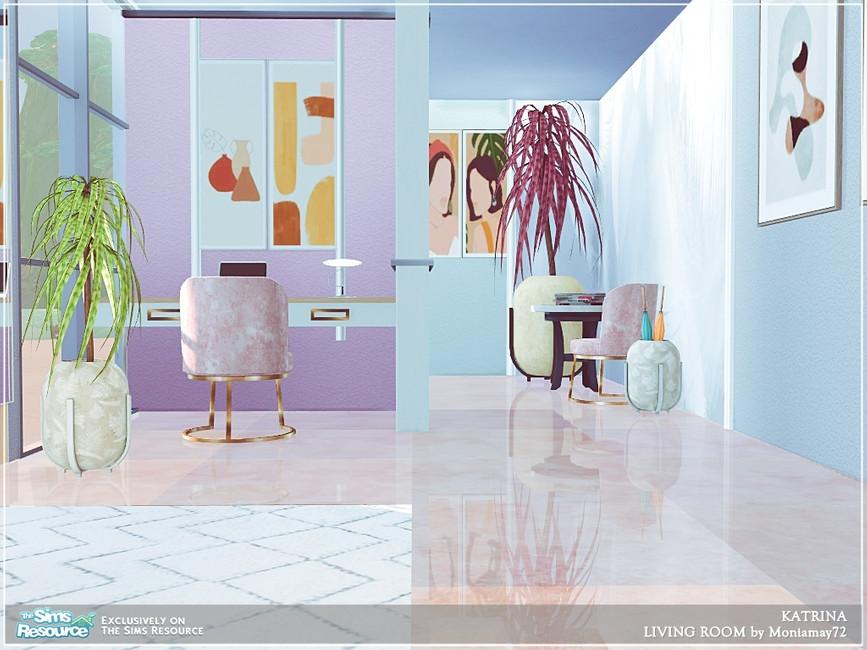 Современная гостиная для Симс 4 (картинка 2)