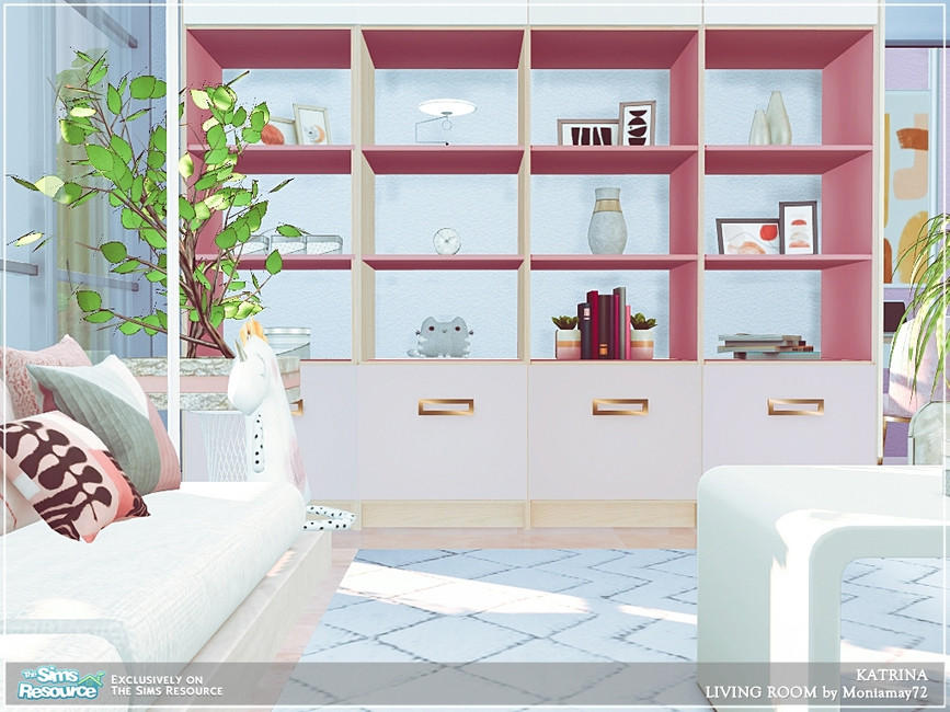 Современная гостиная для Симс 4 (картинка 4)