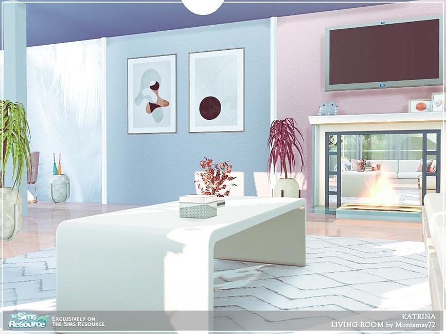 Современная гостиная для Симс 4 (картинка 5)