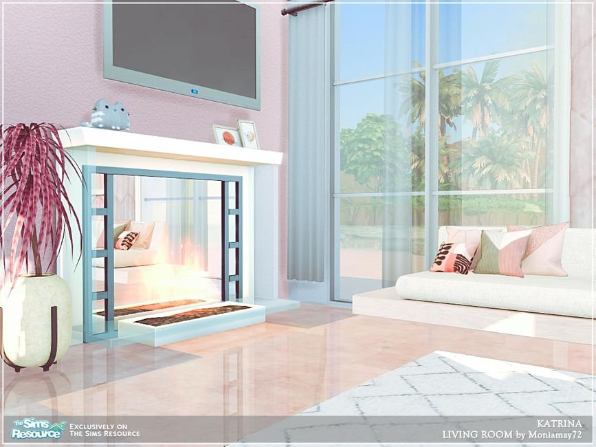 Современная гостиная для Симс 4 (картинка 6)