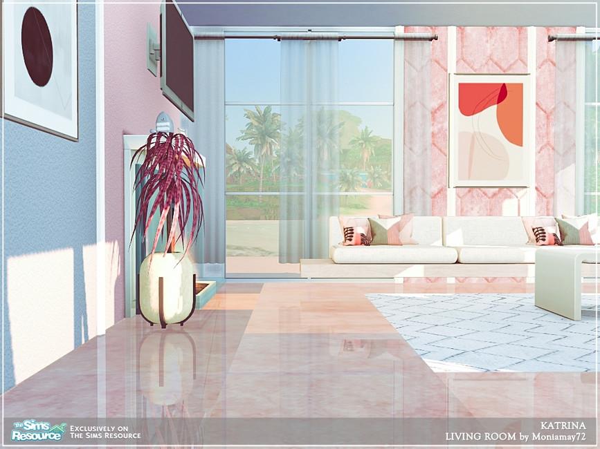 Современная гостиная для Симс 4 (картинка 7)