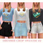 Свитер Dreamer Crop Sweater 02 Симс 4