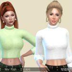 Свитер Short Sweater Pastel Симс 4