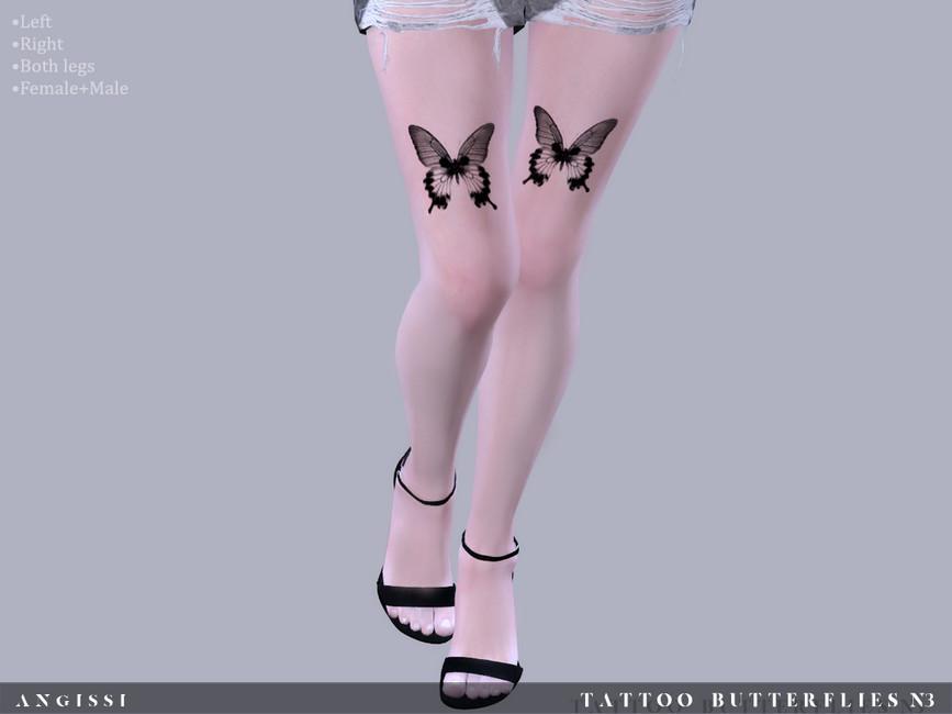 Татуировка на бедрах Симс 4