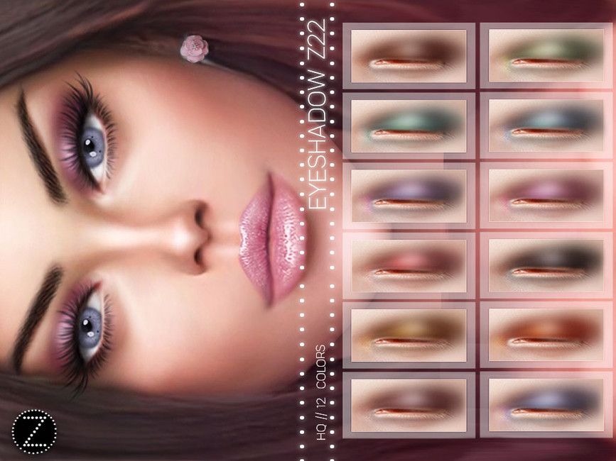 Тени для век EYESHADOW Z22 Симс 4