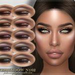 Тени FRS Eyeshadow N162 для Симс 4