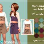 Толстовка Short Denim Sweatshirt для Симс 4