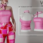 Топ Colorblock Outfit (TOP) P39 Симс 4