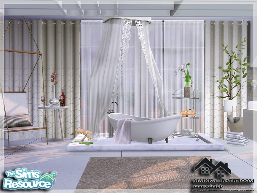 Ванная комната MAINKA - BATHROOM Симс 4 (картинка 2)