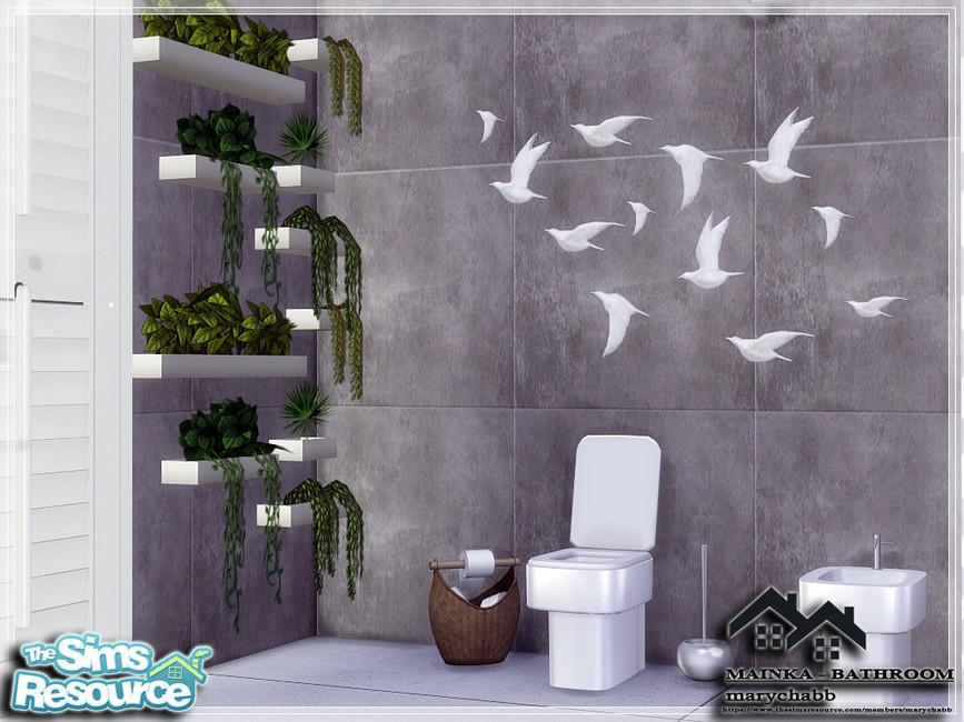 Ванная комната MAINKA - BATHROOM Симс 4 (картинка 7)