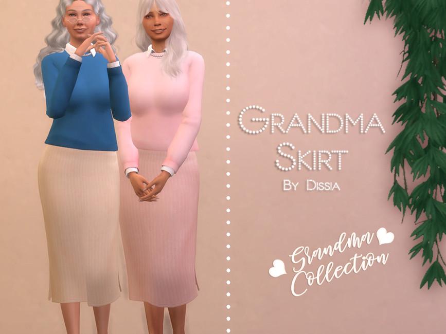 Юбка Grandma Skirt Симс 4