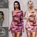 Юбка Mya Set (Skirt) Симс 4