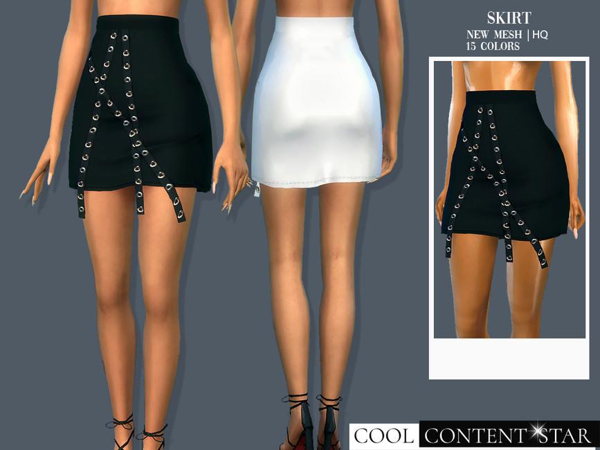 Юбка Skirt 1 Симс 4