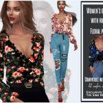 Женские блузки для Симс 4