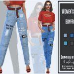 Женские джинсы для Симс 4
