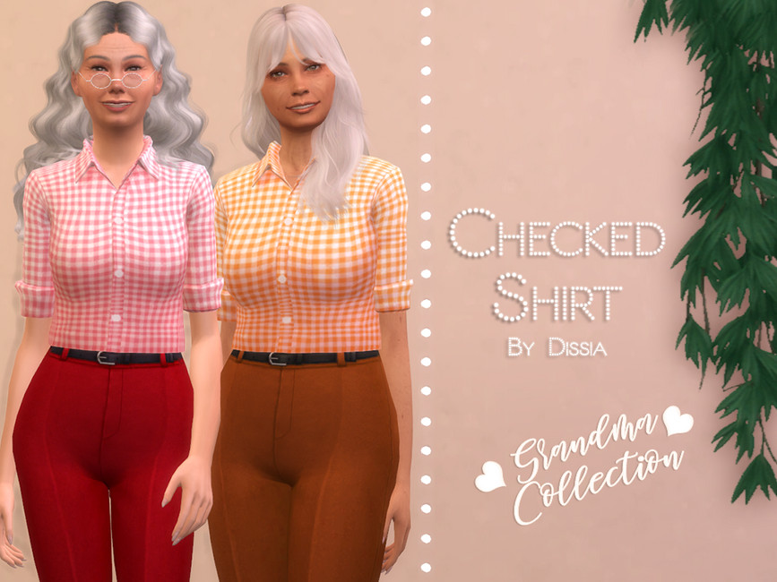 Женские рубашки для Симс 4