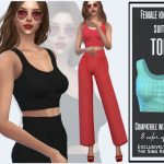 Женский топ Female Knitted Suit Top Симс 4