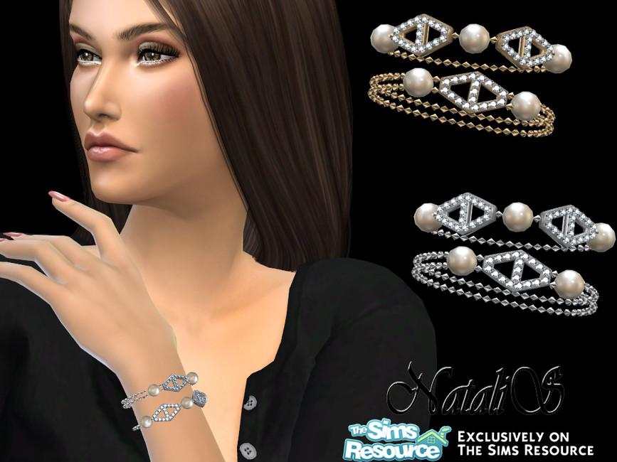 Браслет Diamond Hexagon Bracelet Симс 4