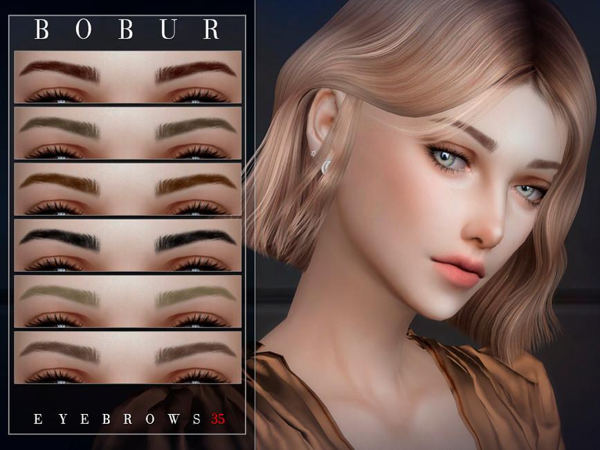 Брови Bobur Eyebrows 35 Симс 4 (картинка 2)
