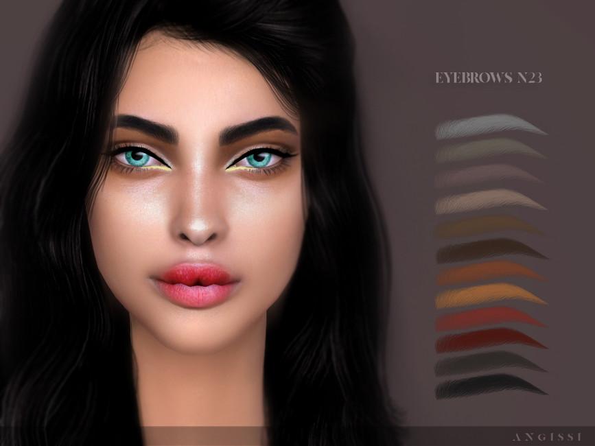 Брови Eyebrows N23 Симс 4