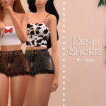 Джинсовые шорты Denim Shorts Симс 4