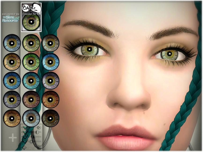 Естественные глаза Симс 4