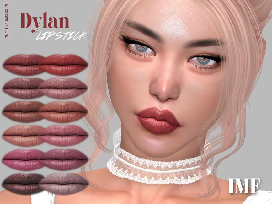 Губная помада IMF Dylan Lipstick N342 Симс 4