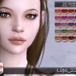 Губы Taty Lips 229 Симс 4
