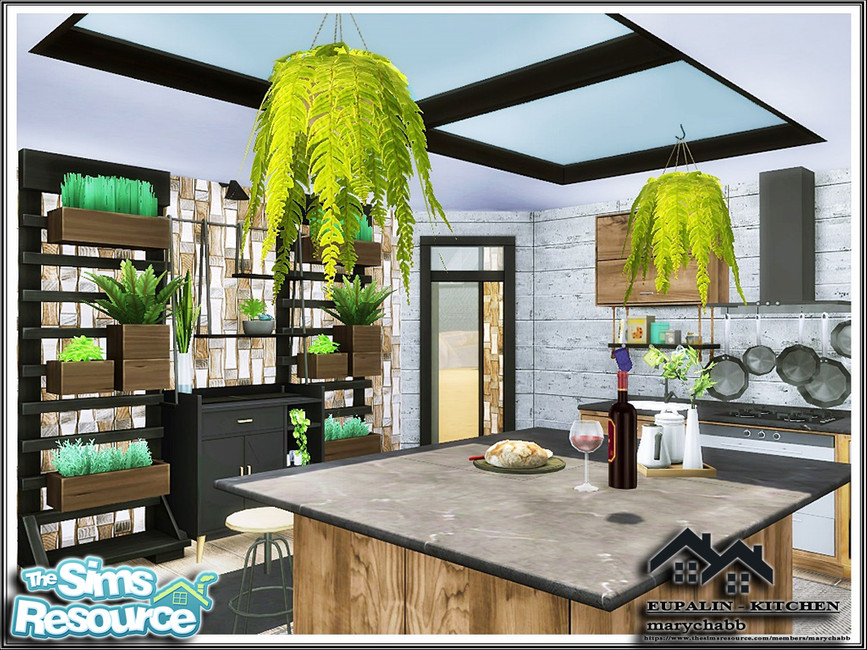 Кухня EUPALIN - Kitchen Симс 4 (картинка 4)