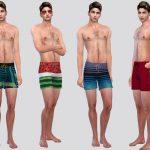 Мужские шорты Summer Swim Shorts Симс 4