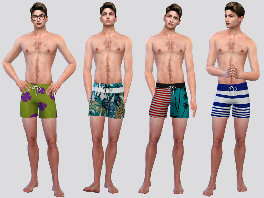Мужские шорты Summer Swim Shorts Симс 4 (картинка 2)