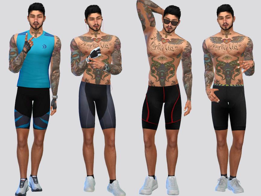 Мужские велосипедные шорты Симс 4