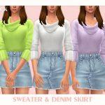 Наборы женской одежды Симс 4
